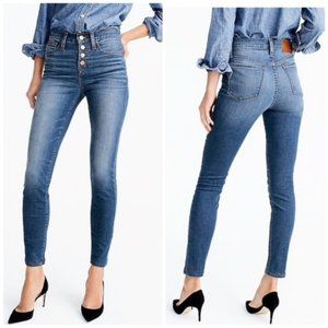 """J. Crew 9"""" High Rise Toothpick Button Fly Jeans 31"""
